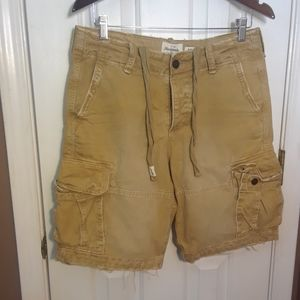 abercrombie fitch cargo shorts 32